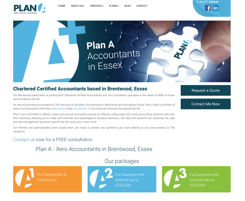 Plan A Accountants in Essex