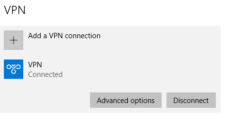 VPN disconnect